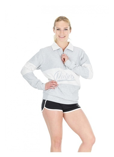Picture Organic  Cloud 1/4 Zip Kadın Sweatshirt Gri